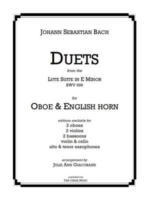 bach lute suite -duets ob eh