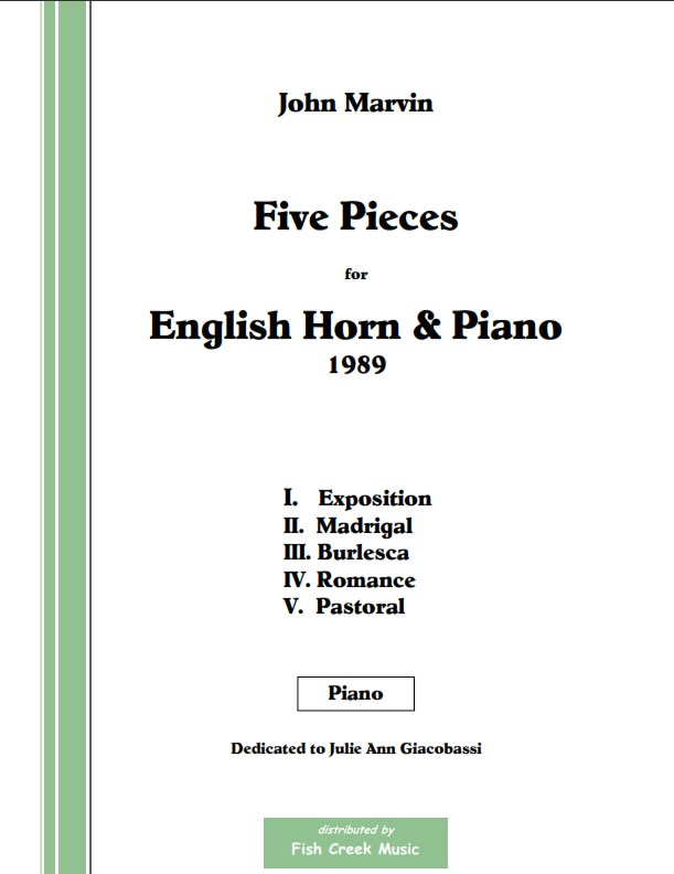 Five Pieces for English horn and piano -Marvin