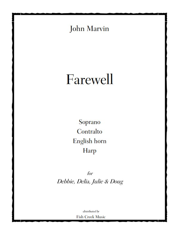 marvin farewell cover