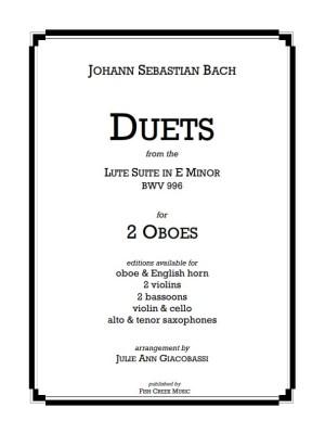bach lute suite -duets sax