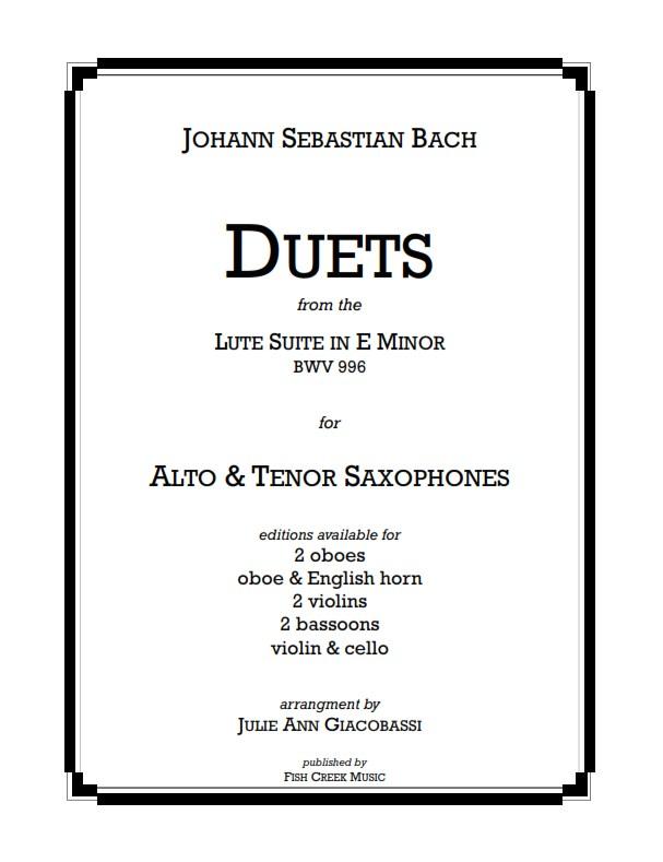 Bach Duets Sax Cover