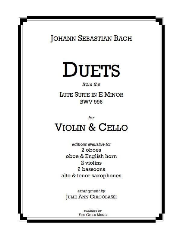 bach lute suite -duets vln vc