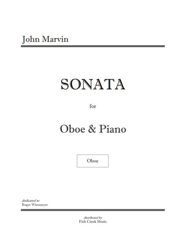 marvin oboe sonata cover