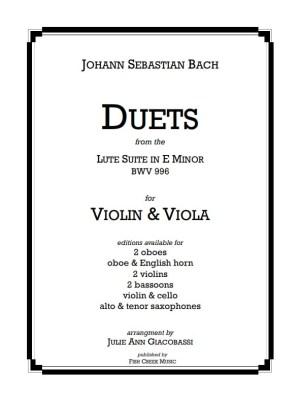 bach lute suite -duets vln vla